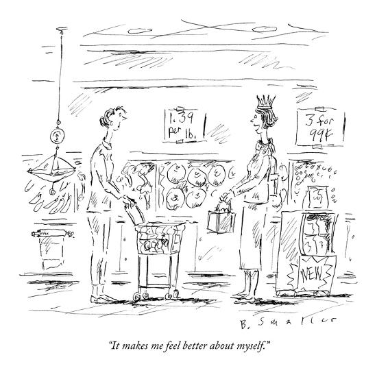 """""""It makes me feel better about myself."""" - New Yorker Cartoon-Barbara Smaller-Premium Giclee Print"""
