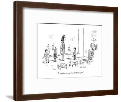 """""""It may be wrong, but it's how I feel."""" - New Yorker Cartoon-David Sipress-Framed Premium Giclee Print"""
