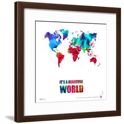It's a Beautifull World Poster-NaxArt-Framed Premium Giclee Print
