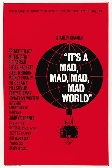 """""""It's a Mad, Mad, Mad, Mad World"""" 1963, Directed by Stanley Kramer--Giclee Print"""