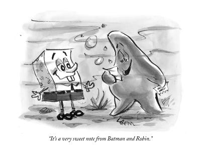 """""""It's a very sweet note from Batman and Robin."""" - New Yorker Cartoon-Lee Lorenz-Premium Giclee Print"""