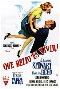 It's a Wonderful Life, (AKA Que Bello Es Vivir!), Spanish Poster Art, 1946
