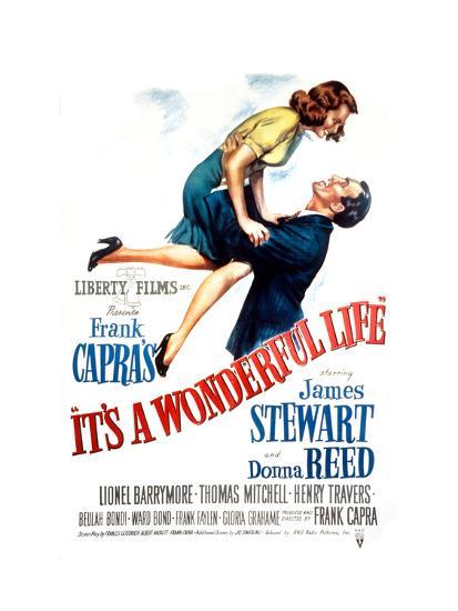 It's a Wonderful Life, Donna Reed, James Stewart, 1946--Photo