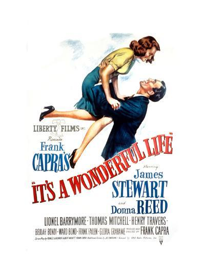It's a Wonderful Life, Donna Reed, James Stewart, 1946--Photo