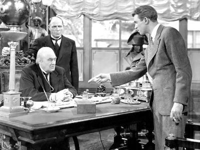 It's A Wonderful Life, Lionel Barrymore, Frank Hagney, James Stewart, 1946--Photo
