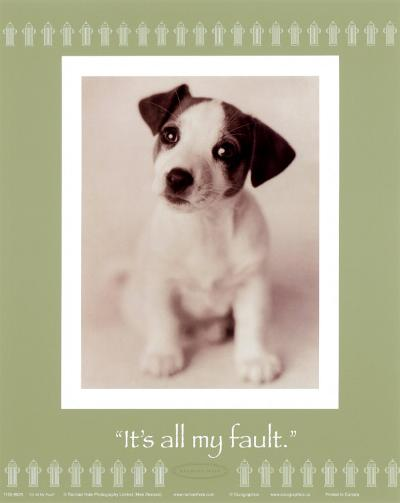 It's All My Fault-Rachael Hale-Art Print
