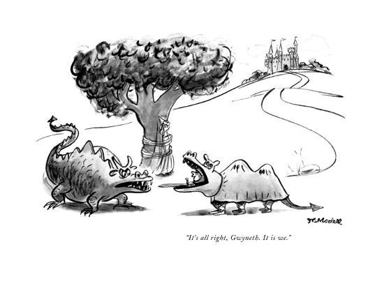 """It's all right, Gwyneth. It is we."" - New Yorker Cartoon-Frank Modell-Premium Giclee Print"