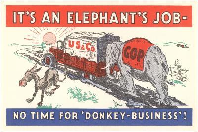 It's an Elephant's Job Political Cartoon--Giclee Print
