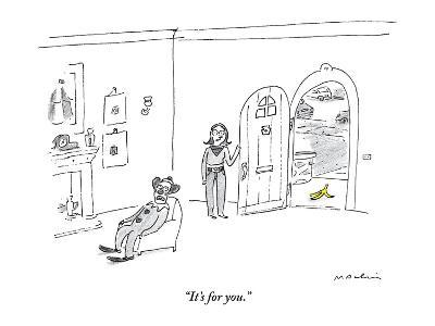"""""""It's for you."""" - New Yorker Cartoon-Michael Maslin-Premium Giclee Print"""