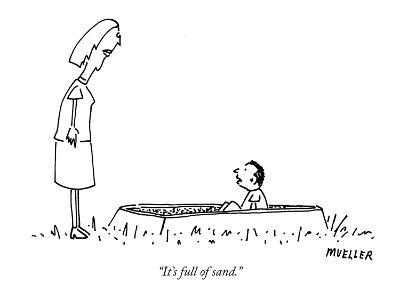 """It's full of sand."" - New Yorker Cartoon-Peter Mueller-Premium Giclee Print"