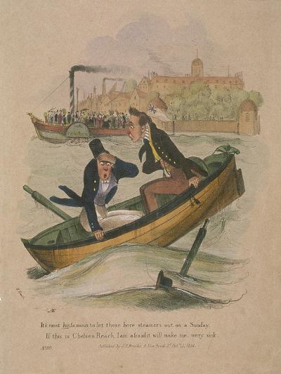 It's Most Hinfamous to Let These Here Steamers Out on a Sunday..., 1834-Henry Heath-Giclee Print
