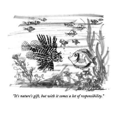 """""""It's nature's gift, but with it comes a lot of responsibility."""" - New Yorker Cartoon-Bernard Schoenbaum-Premium Giclee Print"""
