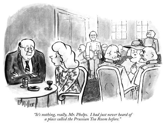 """""""It's nothing, really, Mr. Phelps.  I had just never heard of a place call…"""" - New Yorker Cartoon-Warren Miller-Premium Giclee Print"""
