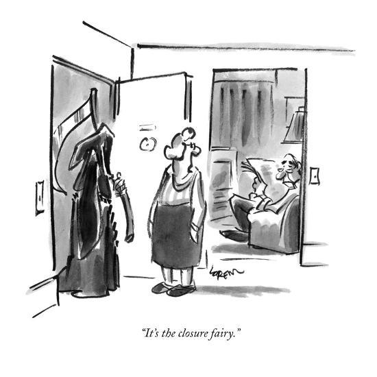 """It's the closure fairy."" - New Yorker Cartoon-Lee Lorenz-Premium Giclee Print"