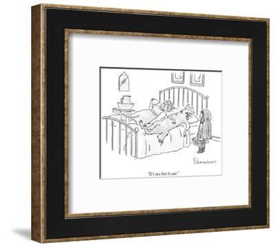"""It's too hot to eat."" - New Yorker Cartoon-Danny Shanahan-Framed Premium Giclee Print"