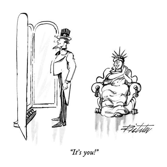 """It's you!"" - New Yorker Cartoon-Mischa Richter-Premium Giclee Print"