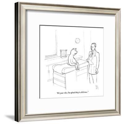 """""""It's your ribs. I'm afraid they're delicious."""" - New Yorker Cartoon-Paul Noth-Framed Premium Giclee Print"""