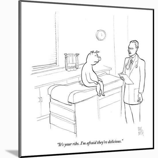 """It's your ribs. I'm afraid they're delicious."" - New Yorker Cartoon-Paul Noth-Mounted Premium Giclee Print"