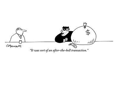 """""""It was sort of an after-the-bell transaction."""" - New Yorker Cartoon-Charles Barsotti-Premium Giclee Print"""