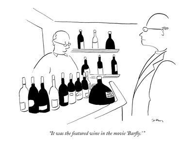 it was the featured wine in the movie barfly new yorker Ogden UT Dance Studios new yorker cartoon premium giclee print by michael shaw art