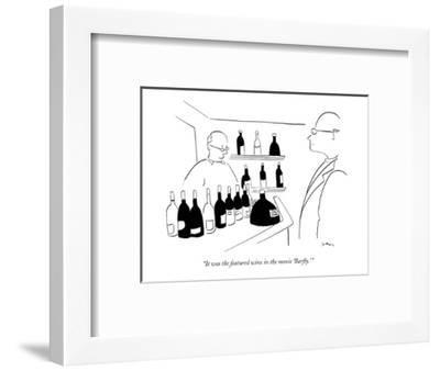 """""""It was the featured wine in the movie 'Barfly.' """" - New Yorker Cartoon-Michael Shaw-Framed Premium Giclee Print"""
