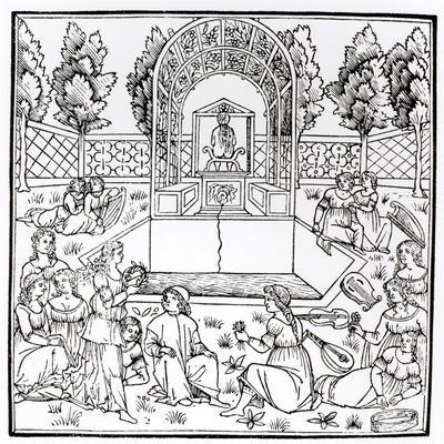 A Garden Scene, from 'Hypnerotomachia Poliphili' Attributed to Francesco Colonna (C.1432-1527)