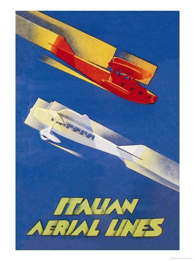 Italian Aerial Lines-Umberto di Lazzaro-Art Print