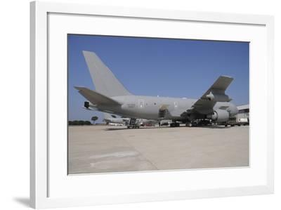 Italian Air Force Kc-767A Tanker Planes at Pratica Di Mare Air Base, Italy-Stocktrek Images-Framed Photographic Print