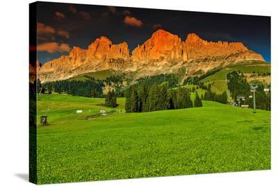 Italian Alps Rosengarten Group--Stretched Canvas Print