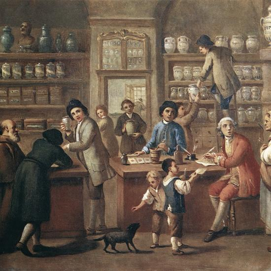 Italian Apothecary, 18th Century-Science Photo Library-Photographic Print