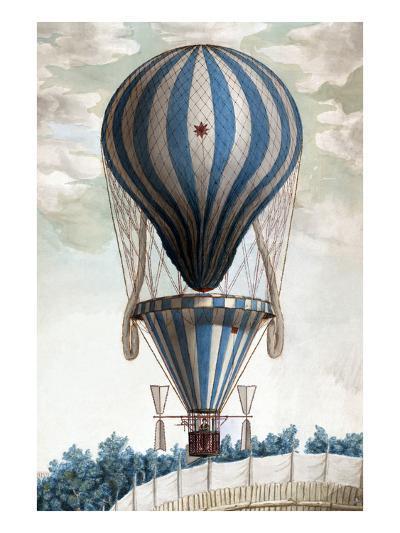 Italian Balloon Ascension--Art Print