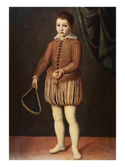 Italian Baroque Portrait of Boy with Racquet and Ball-Geoffrey Clements-Giclee Print