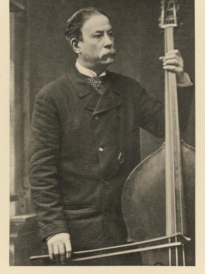 Italian Bass-Player--Photographic Print