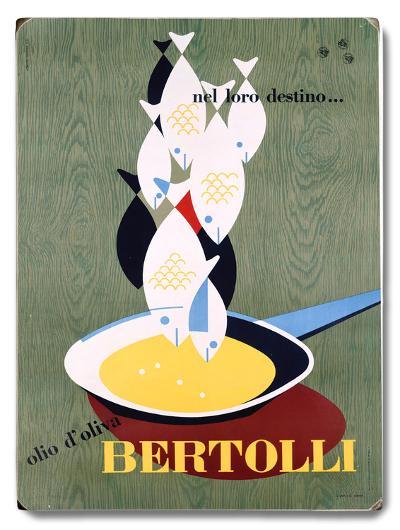 Italian Bertolli Seafood Cooking--Wood Sign