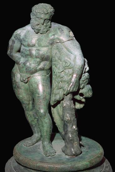 Italian bronze of Heracles, 3rd century BC. Artist: Unknown-Unknown-Giclee Print
