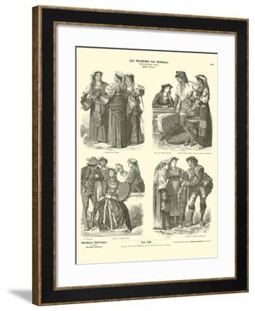 Italian Costumes, Late 19th Century--Framed Giclee Print