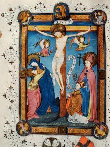 Crucifixion, Illustration from the Missal of Master Pancratino, C. 1430 (Vellum) by Italian