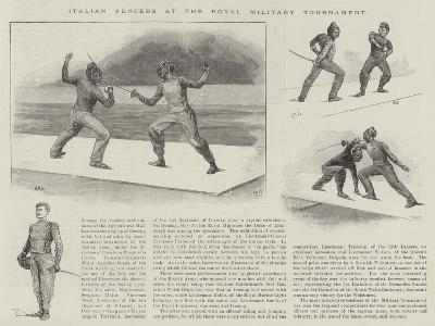 Italian Fencers at the Royal Military Tournament--Giclee Print