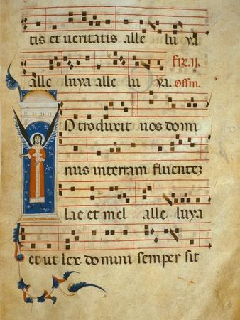 Fol 4V. Gradual, C.1260 (Vellum)