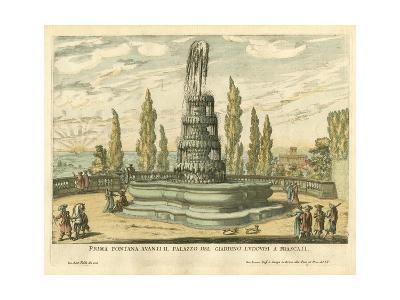 Italian Fountain IV- Falda-Art Print