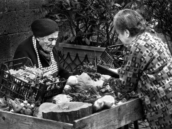 Italian Fruit Market, 2006--Photographic Print