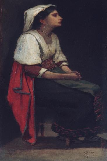 Italian Girl, 1867-William Morris Hunt-Giclee Print
