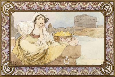 Italian Girl, 1900-Alphonse Mucha-Giclee Print