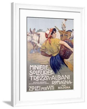 Italian Grape Harvest--Framed Giclee Print