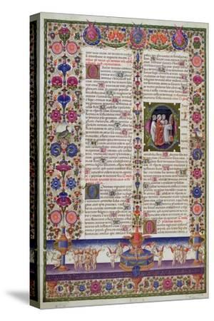 Illuminated Page from the Book of Psalms, from the Borso D'Este Bible. Vol 1 (Vellum)