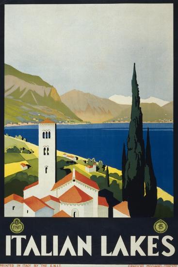 Italian Lakes--Art Print