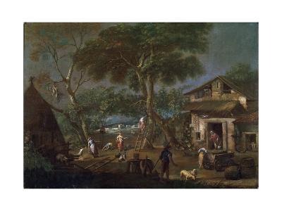 Italian Landscape, C1750-1795-Antonio Diziani-Giclee Print