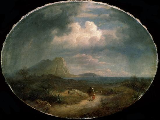 'Italian Landscape', early 19th century-Unknown-Giclee Print