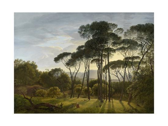 Italian Landscape with Umbrella Pines, 1805-Hendrik Voogd-Giclee Print
