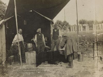 Italian Military Camp Kitchen During the First World War-Luigi Verdi-Photographic Print